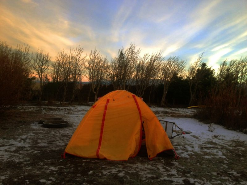Estradas Cruzadas Chile acampamento Cicloaventureiro